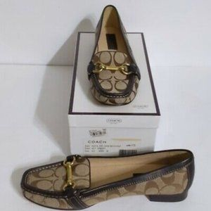 Coach (9)Eve Brown Monogram Canvas Horsebit Loafer